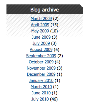 How to create a monthly archive block for a Drupal blog with