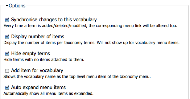 How to add a block menu of tags (or other taxonomy terms) on a